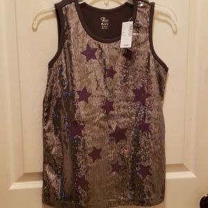 NWT Sequin Star Top